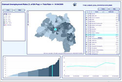 Tyne and Wear Local Statistics Explorer Single Map